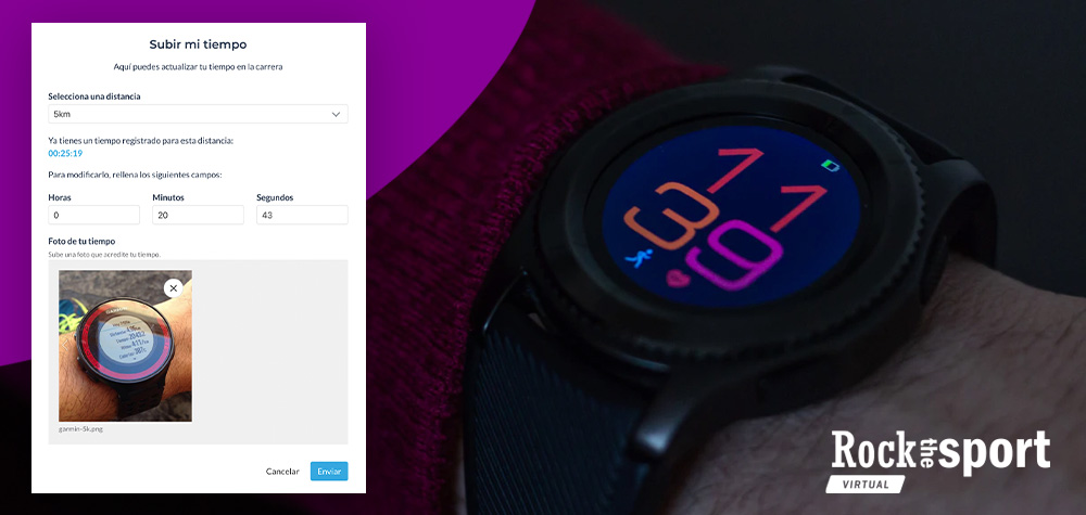 Corregir tiempo de forma manual en un evento virtual